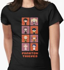 Pixel Phantom Thieves - Persona 5 Womens Fitted T-Shirt
