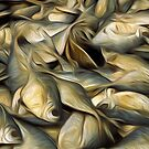 Fish drying in the sun oil painting effect by funkyworm