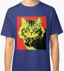 POP ART CAT - YELLOW RED Classic T-Shirt