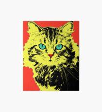 POP ART CAT - YELLOW RED Art Board