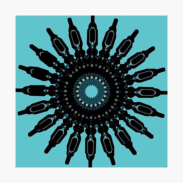 Blue & Black Mandala Photographic Print