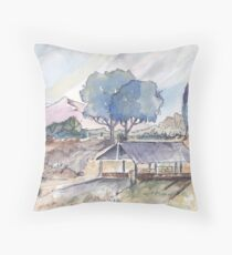 Farm shed in Magaliesburg Throw Pillow