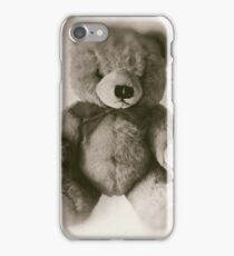 Teddy bear on a white background, faded photo effect. iPhone Case/Skin