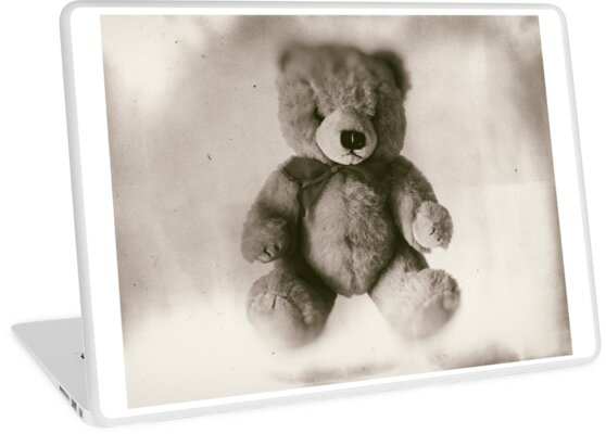 Teddy bear on a white background, faded photo effect. by funkyworm
