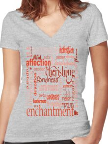 What Is Love Women's Fitted V-Neck T-Shirt