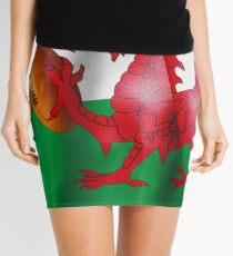Welsh Dragon Rugby Ball Flag Mini Skirt