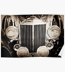 1933 Packard 12 Convertible Coupe Classic Car -0537s Poster