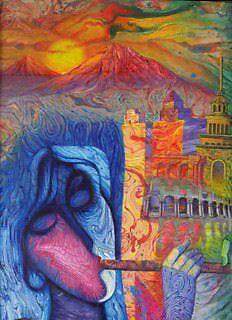 Woman  Play  Duduk by Ararat Art Studio