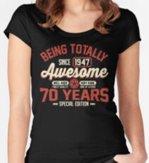 Born in 1947 Women's Fitted Scoop T-Shirt