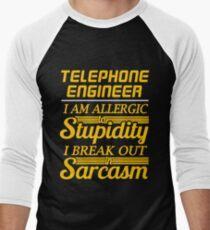telephone engineer Men's Baseball ¾ T-Shirt