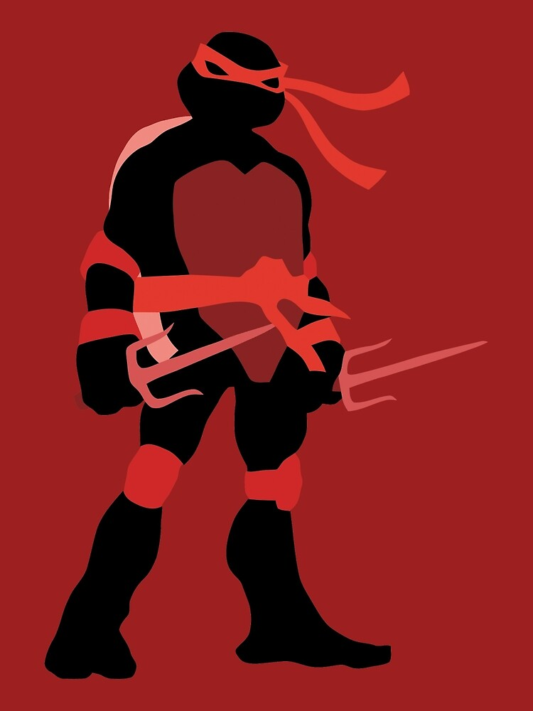 Tmnt Silhouettes Classic Raphael Greeting Card By Miztak Redbubble