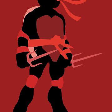 TMNT SILHOUETTES - Classic Raphael by miztak
