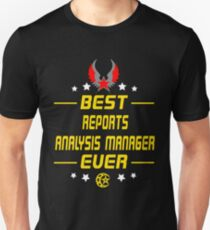 reports analysis manager - solve and travel design Unisex T-Shirt