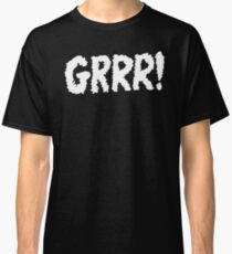 Grrr - white on black Classic T-Shirt