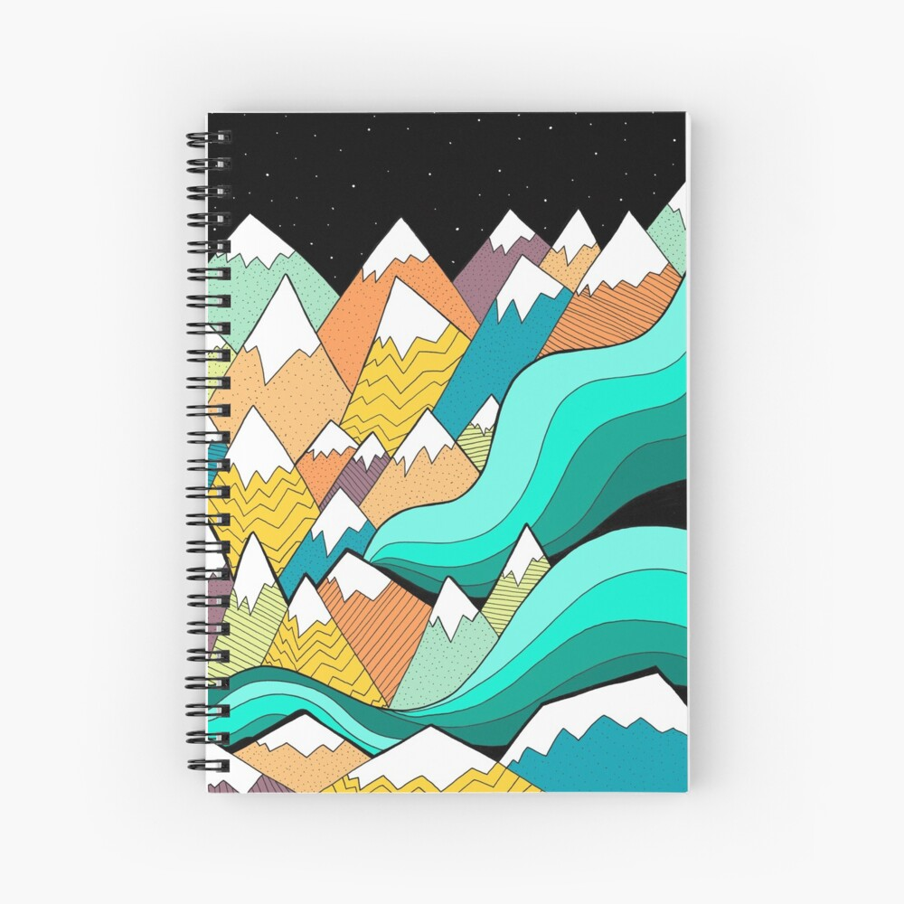 Waves of the mountains Spiral Notebook