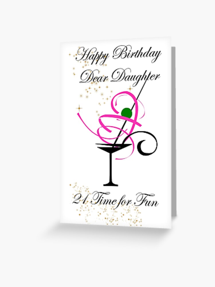 Daughter 21st Birthday Card Greeting