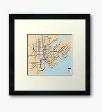 new york subway metro map Framed Print