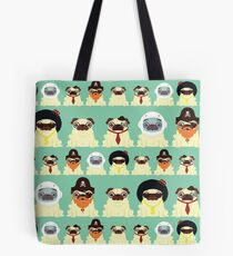 Pug pattern Tote Bag
