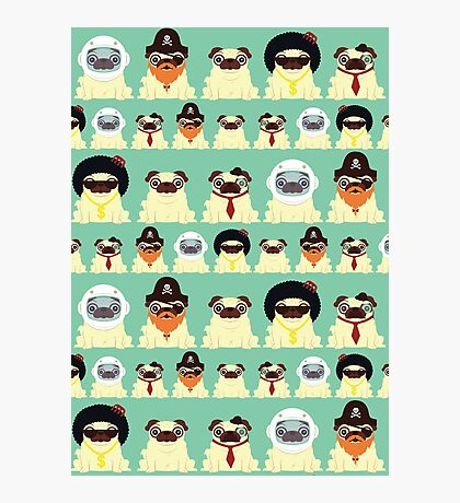 Pug pattern Photographic Print