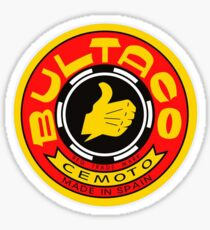 Vintage Bultaco Motorcycle Co. Spain Sticker