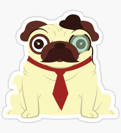 Pug in a Hat Sticker