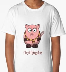 Piggy Cerdo Cerdito Gryffindor Harry Potter Nerd Long T-Shirt
