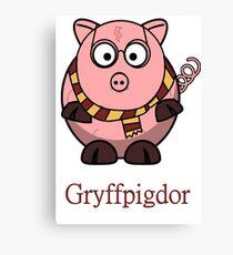 Piggy Cerdo Cerdito Gryffindor Harry Potter Nerd Canvas Print