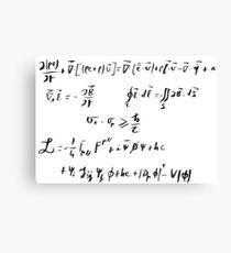 Lagrangian standard model Canvas Print