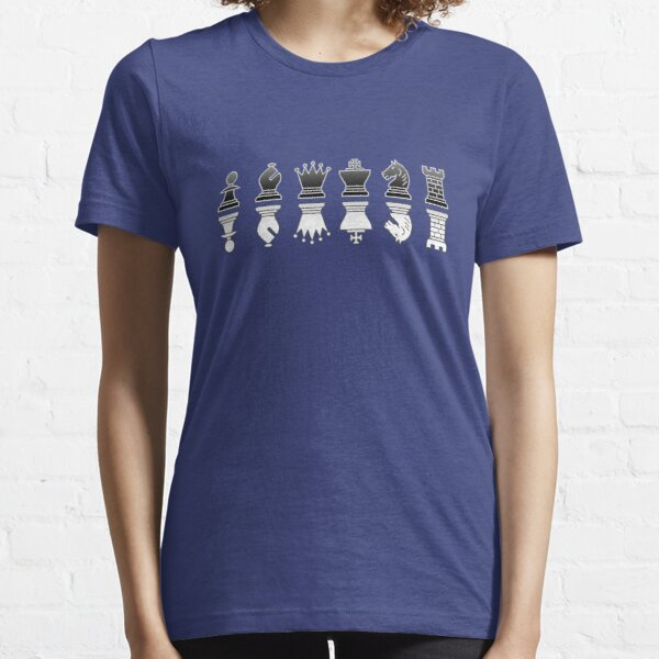 Chess - Black and white reflection Essential T-Shirt