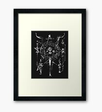 Page from Necronomicon Evil Dead Black Framed Print