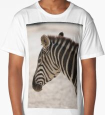zebra at the zoo Long T-Shirt