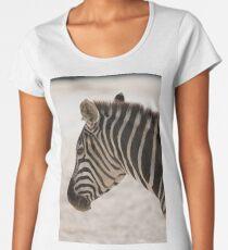 zebra at the zoo Women's Premium T-Shirt