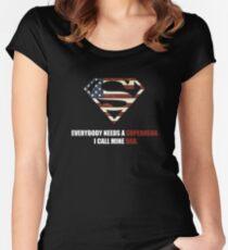 Superhero Dad Women's Fitted Scoop T-Shirt