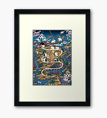 Taming The Elephant Mind Diagram Framed Print