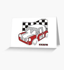 Rally Car Greeting Card