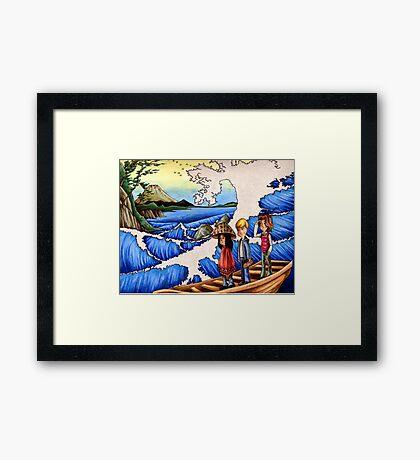 Sailing Through Hokusai Framed Print