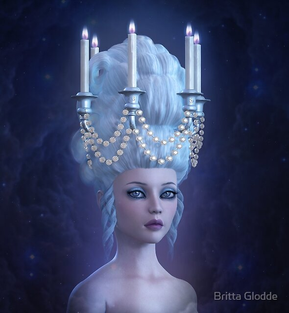 Surreal Rococo Enlightenment by Britta Glodde