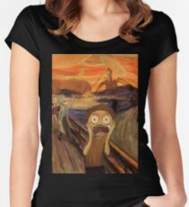 Rick and Morty The Scream Women's Fitted Scoop T-Shirt