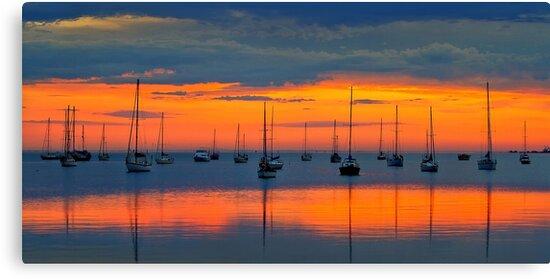 0168 Dawn light - Corio Bay by Hans Kawitzki
