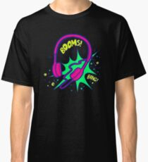 Headphones in the style of pop art Classic T-Shirt