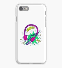 Headphones in the style of pop art iPhone Case/Skin
