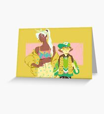 80s Voltron : Girls Greeting Card