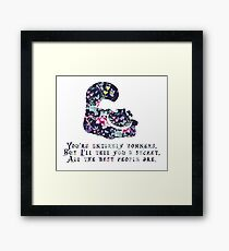 Alice floral designs - Cheshire cat entirely bonkers Framed Print
