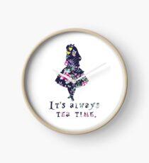Alice floral designs - Always tea time Clock