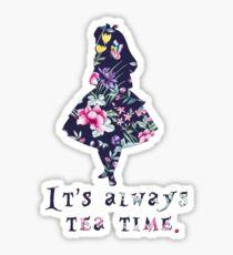 Alice floral designs - Always tea time Sticker