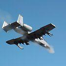 Ein Pilot feuert den GAU-8 von einem A-10 Thunderbolt II. von StocktrekImages