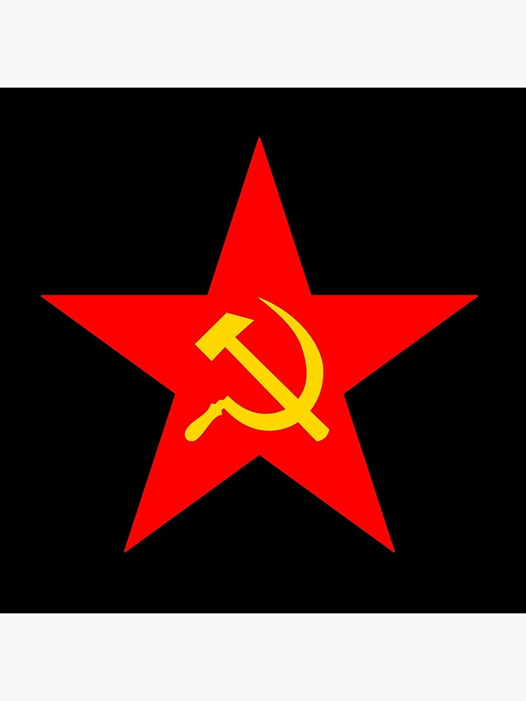 Hammer & Sickle. Red Star. Communist Star. Communism. On BLACK. by TOMSREDBUBBLE