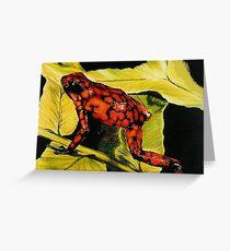 Venezuelan Poison Dart Frog Greeting Card