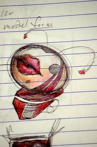 Porcelain - pen, colored pencil, highlighter - 2 by 2 - 10.1 by Micheal Bilyeu
