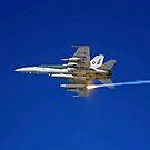 Eine F / A-18C Hornet testet ihr Fackel-Gegenmaßnahmen-System, bevor sie in den Irak aufbricht. von StocktrekImages